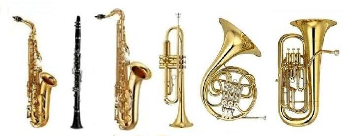 Tous les instruments de musique a vent