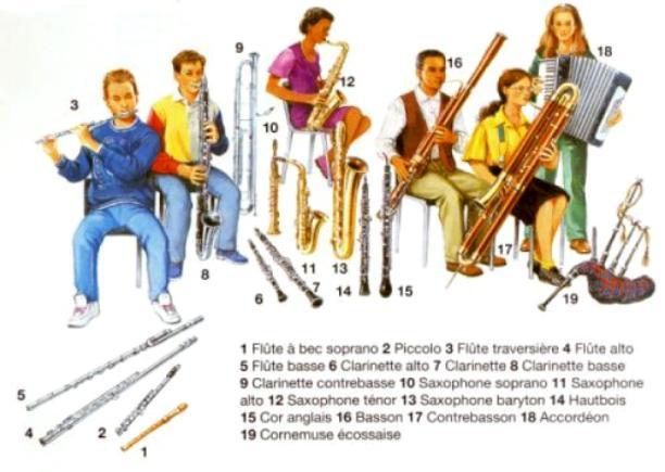 Célèbre Instruments à vent- Les bois - Anches simples AS32